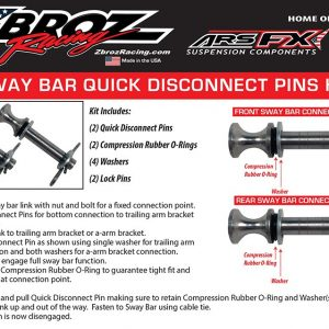 Sway Bar Quick Disconnect Pull Pins for RZR XP 1000 / RZR XP 4 1000 Anti Sway Bar Kit