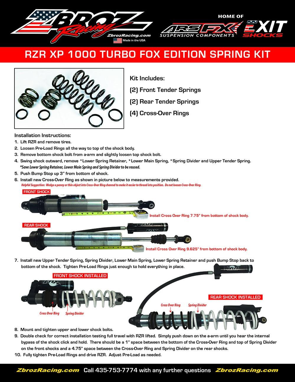 RZR XP 1000 Turbo Fox Edition Spring Kit